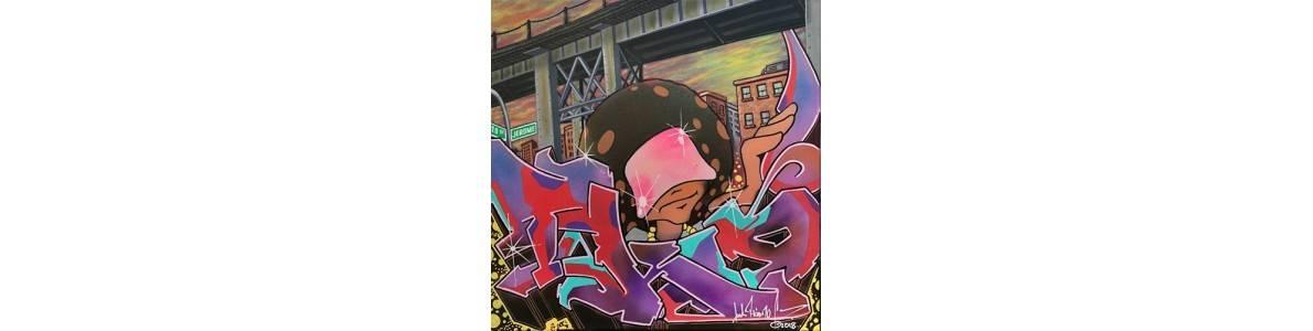 Découvrez les œuvres street art et tableaux d'art urbain de T-KID 170